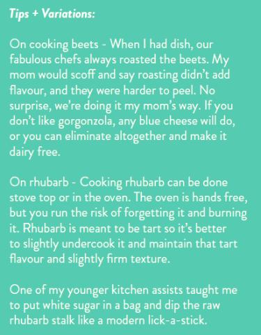 Beet + Rhubarb Salad Tips