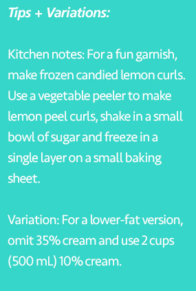 Tips and variations for Trish's lemon ice cream