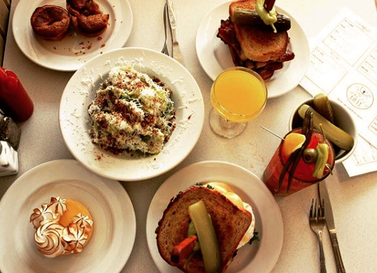 White Lily Diner spread