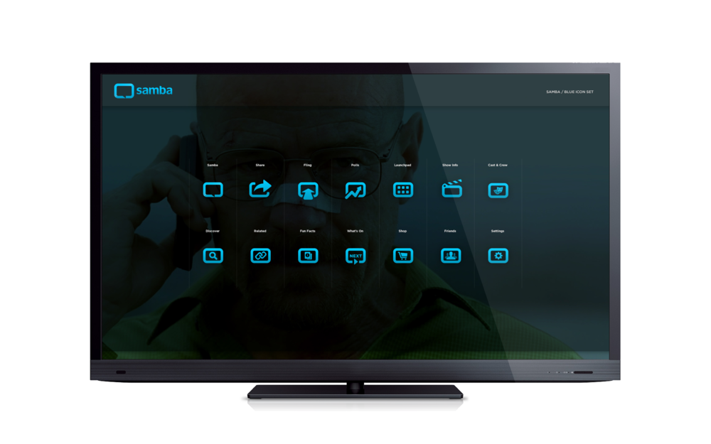 I also developed a series of icons for the 1st screen experience.