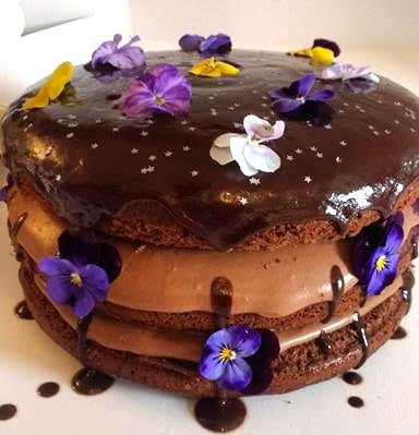 Triple Layer Chocolate Birthday Cake
