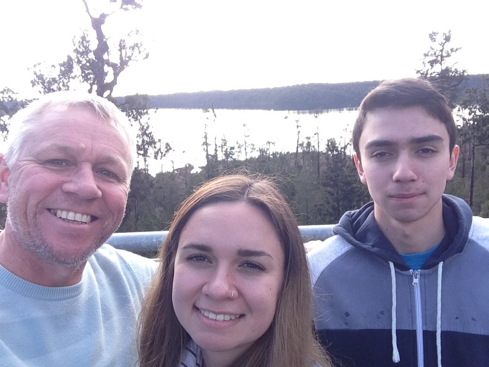 At the Tree top walk on the West Coast