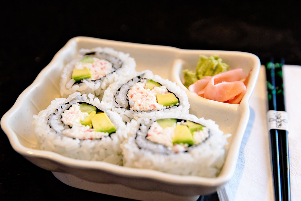 California Roll (served with wasabi and ginger)