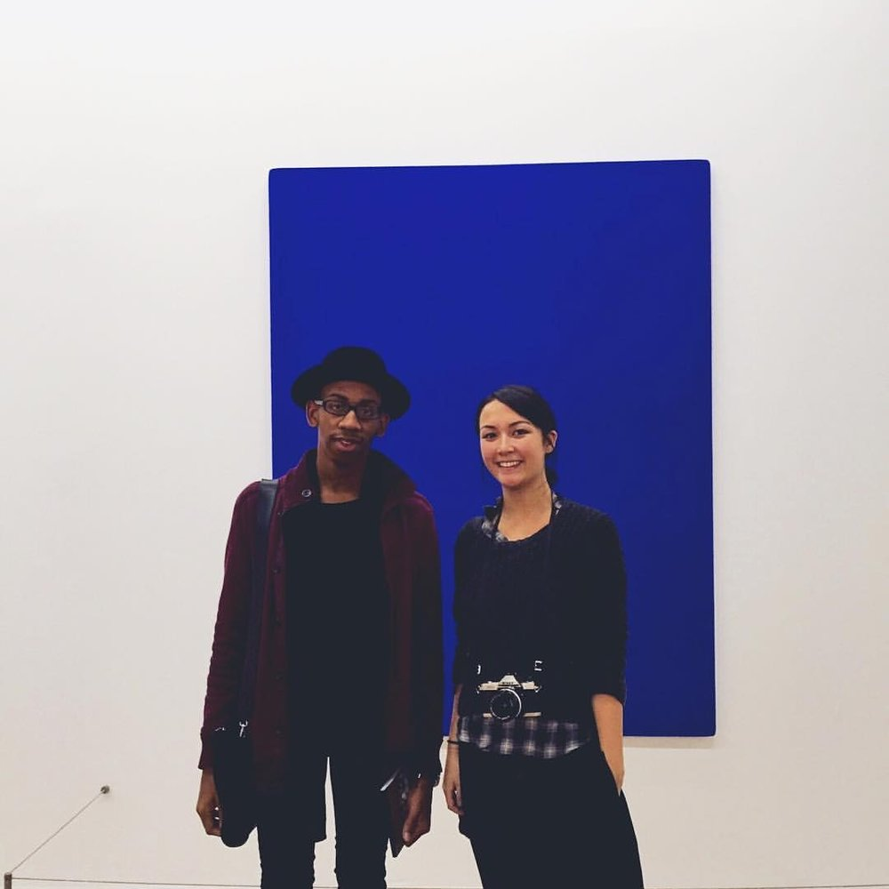 Spellbound by Yves Klein's blue at the Centre Pompidou in Paris.