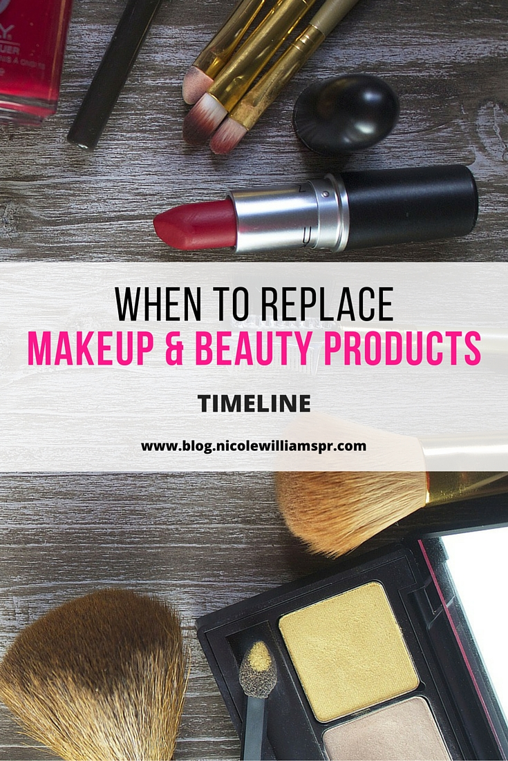 A timeline for replacing your makeup and beauty products. #makeuptips #beasutytips
