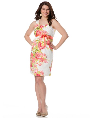 Motherhood Maternity: Sleeveless Empire Waist Maternity Dress