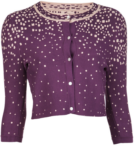 Issa Cardigan in Purple - Lyst