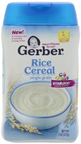 Gerber Baby Cereal, Rice, 8 Ounce (Pack of 6)