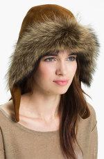 Eric Javits - 'Capuchon III' Genuine Racoon Fur Trim Hood