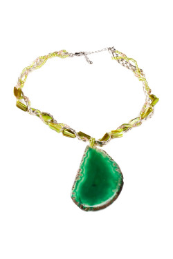 Blue Violet Boutique - Green Rock Necklace