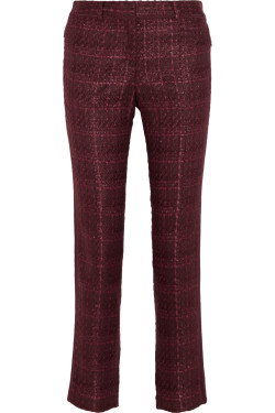 Tory Burch - Drew tweed straight-leg pants