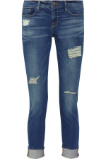 Frame Denim - Le Garcon distressed slim boyfriend jeans