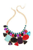Adia kibur Geometric Colorful Gemstone Necklace