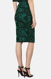 Topshop Baroque Print Jacquard Tube Skirt