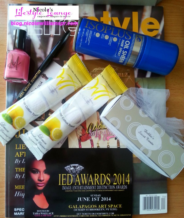 2014 IED Awards products from swag bags
