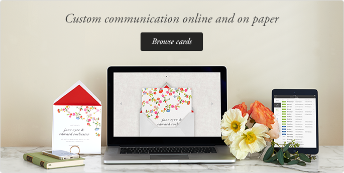 Paperless Post redefining the way you communicate and connect by combining beautiful designs with seamless technology to provide hybrid online-offline stationery
