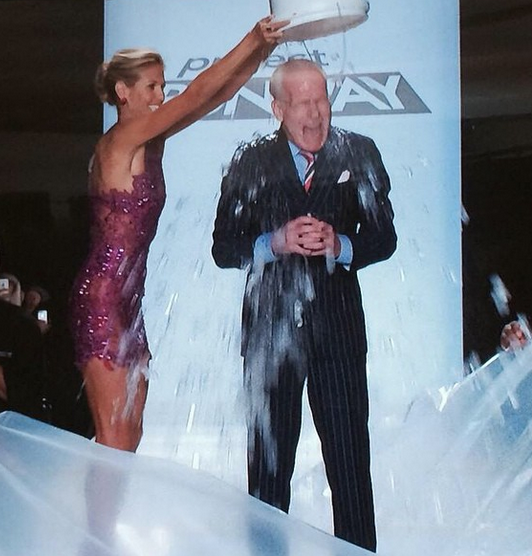 Heidi Klum and Tim Dunn performed the ALS Ice Bucket Challenge at NYFW