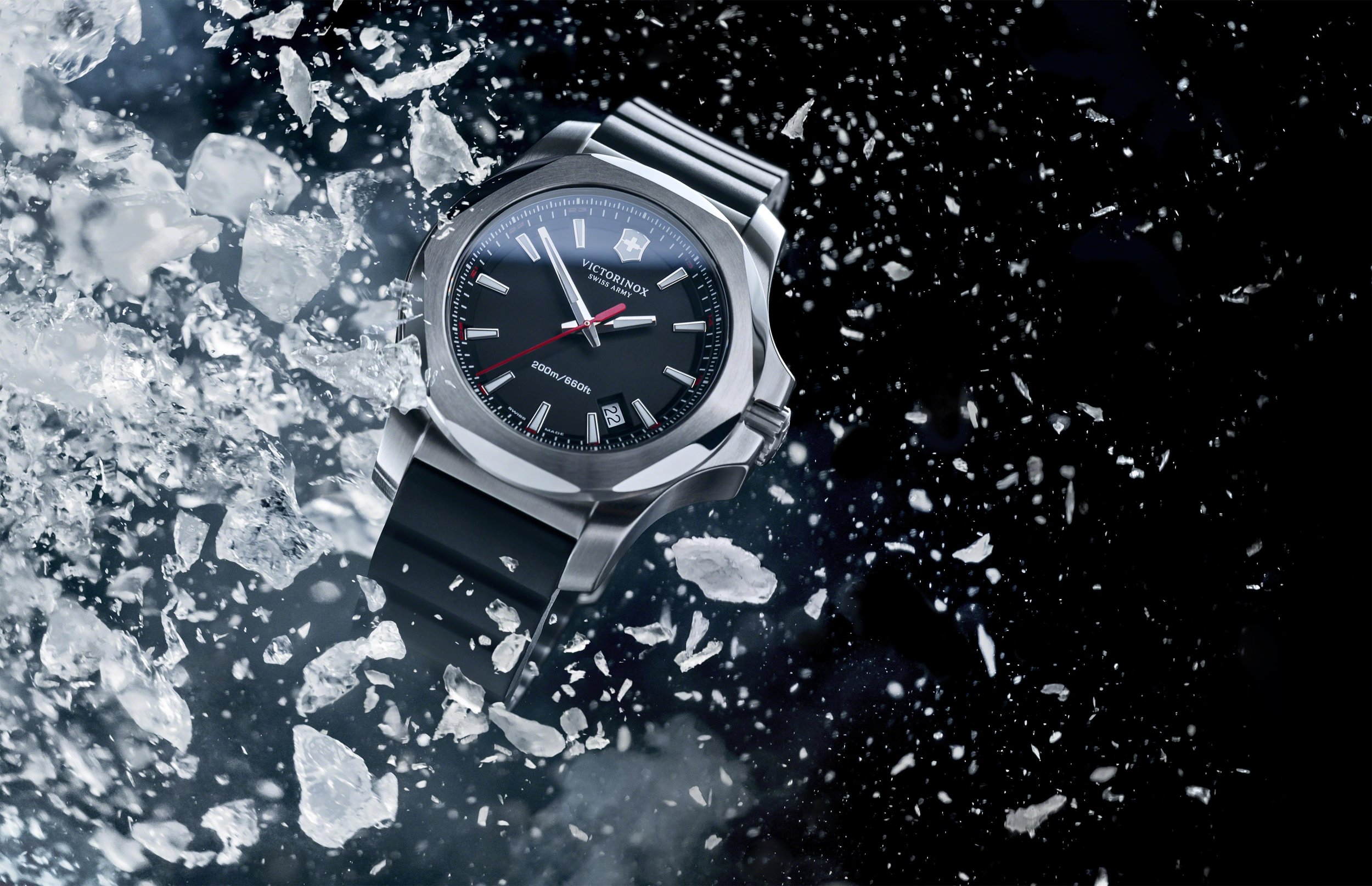 The new rugged yet stylish Victorinox Army Swiss INOX watch.