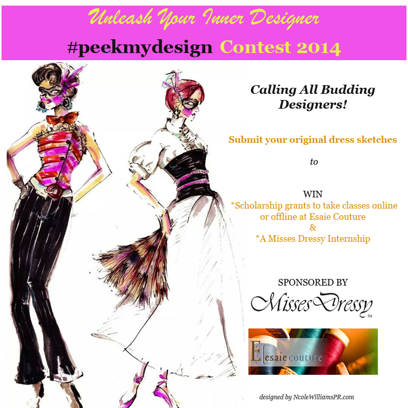 Are you a budding designer or just have a love for design? The #peekmydesign design a dress contest.