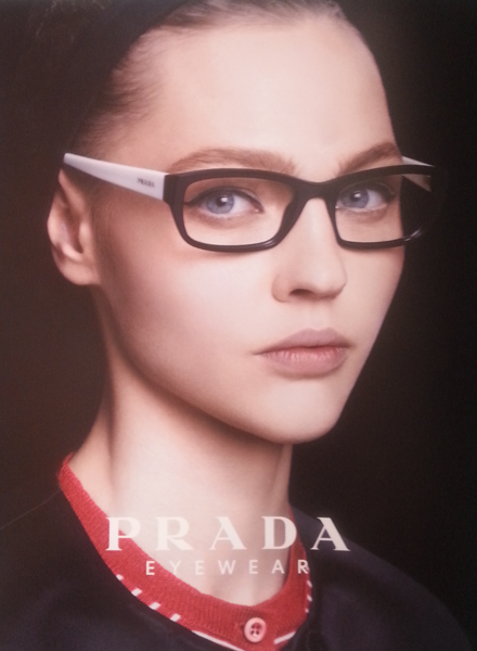 A stylish ophthalmic glasses from Prada Eyewear