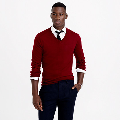 Gift Idea for HIm: Merino Wool V-neck Sweater