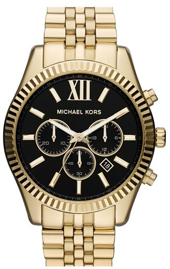 Michael Micheal Kors Large Lexington Chronograph Bracelet Watch