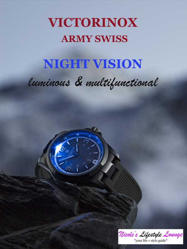 Victorinox Night Vision Watch: A sleek and elegant stainless steel watch by day and a stealthy and clever illuminator by night.