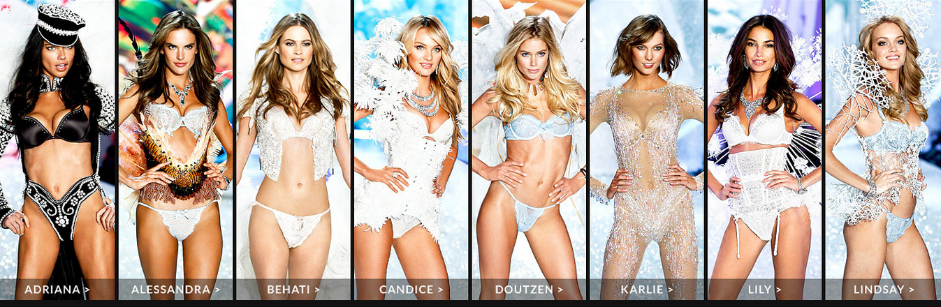 Vicotira Secret Fashion Show 2014 featured Angel Lineup. #VSFashionShow
