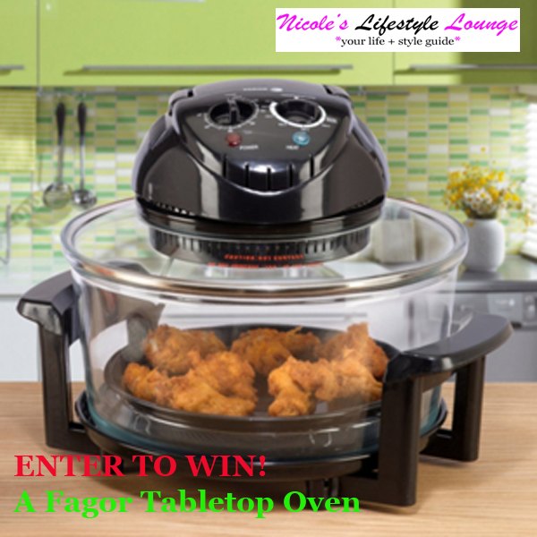 The Fagor Halogen Tabletop Oven is a portable oven which allows for you to broil, grill, roast, steam, dehydrate, and fry while saving energy. #giveaway #sweepstakes