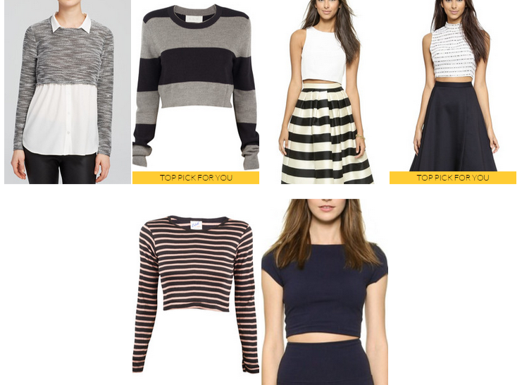NYFW Fall 2015 trends - cropped top