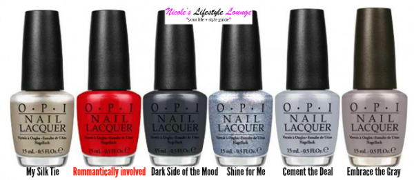 The gorgeous #OPI 50 Shades of Grey limited edition Nail polish collection. #50ShadesOfGrey