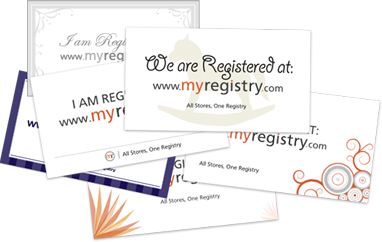 Announce your MyRegistry by sending beautiful printed cards or ecards, display wish list on your website, or you can also share easily on social media using your personalized url. #weddingregistry #babyregistry #giftregistry