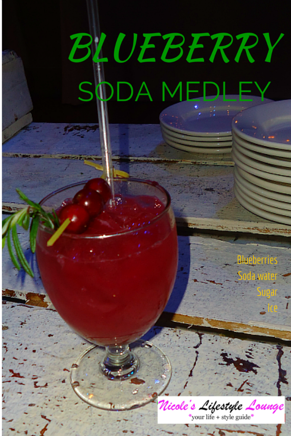 Juice Mocktail Recipes: Blueberry Soda Medley #cocktails #signaturedrinkrecipe