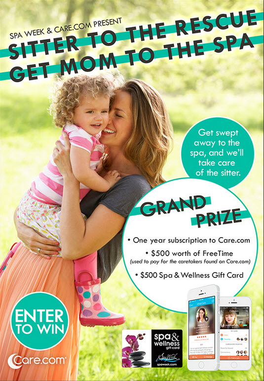 Spa week and Sitter to The Rescue - Get Mom to the Spa #Giveaway. #spaweek #yummie #caredotcom #mommyblogger #millennialmoms