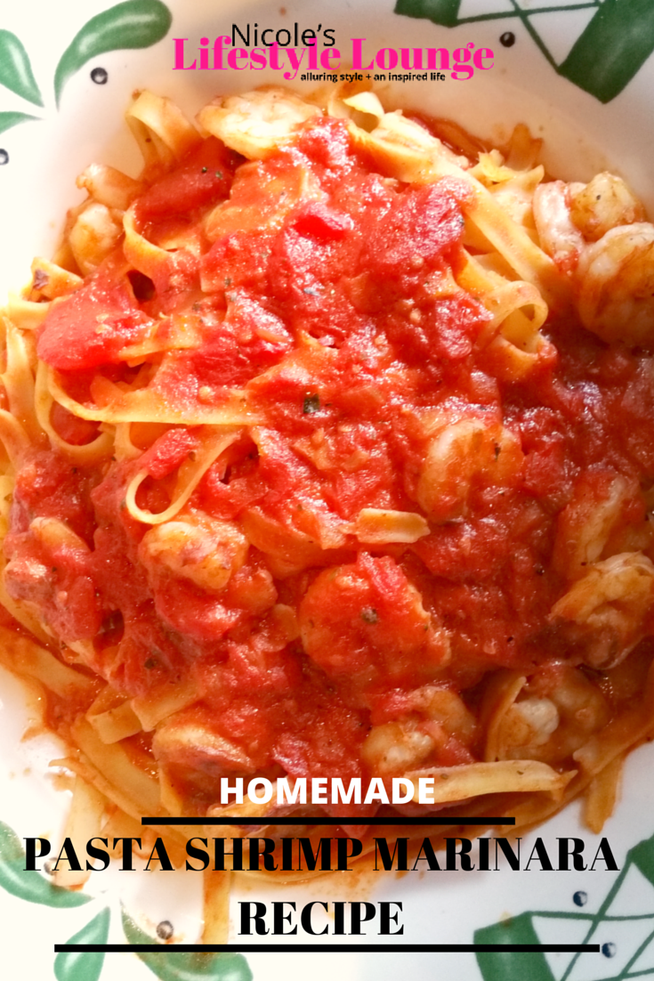 Homemade pasta shrimp marinara is easier than you might think. #Italianrecipes #pastarecipes #easypastarecipes #recipes