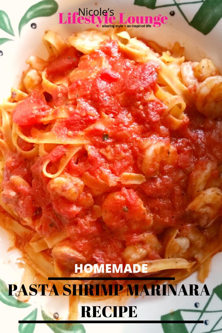 Homemade pasta shrimp marinara is easier than you might think. #Italianrecipes #pastarecipes #easypastarecipes #recipes