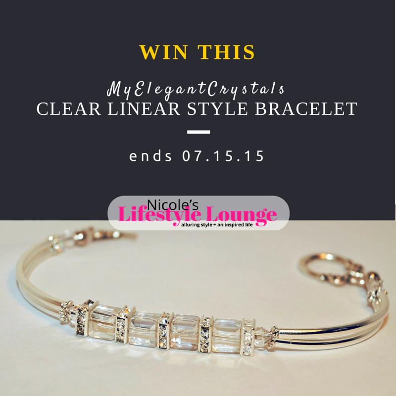 You deserve this #MyElegantCrystals clear linear style bracelet. #jewelry #handmadejewely #accessories #giveaway #sweepstakes
