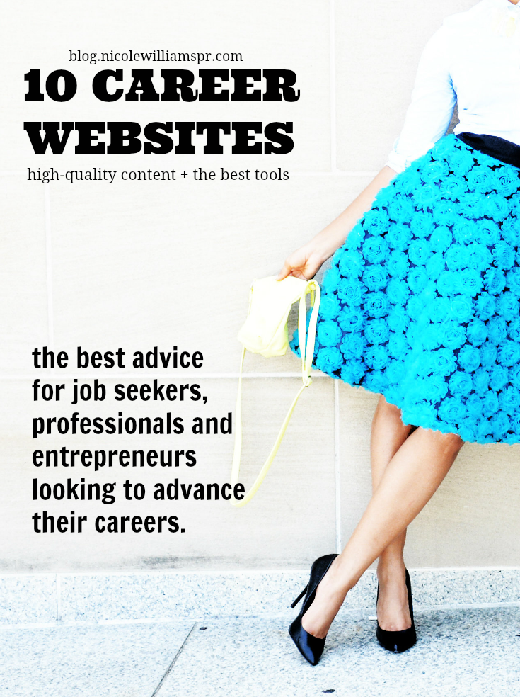 If you're seeking to advance your career and or take yourself to the next level, then you'll want to bookmark this list of career websites. #successtips #careertips