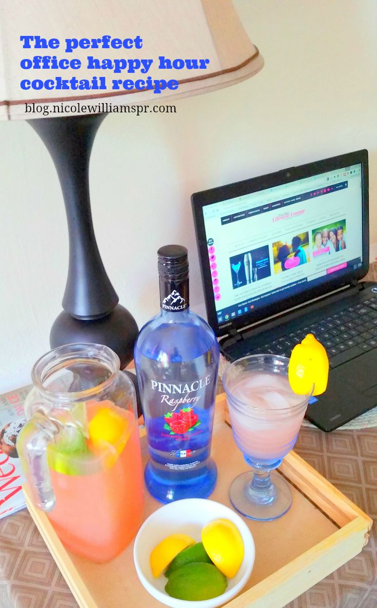The perfect cocktail for the office #happyhour.  #PinnacleVodka #ad #PinnacleCocktailClub #drinkrecipe #cocktailrecipe