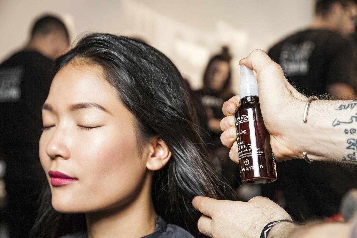 Prep hair... - #aveda #makeup #livingaveda #nyfw