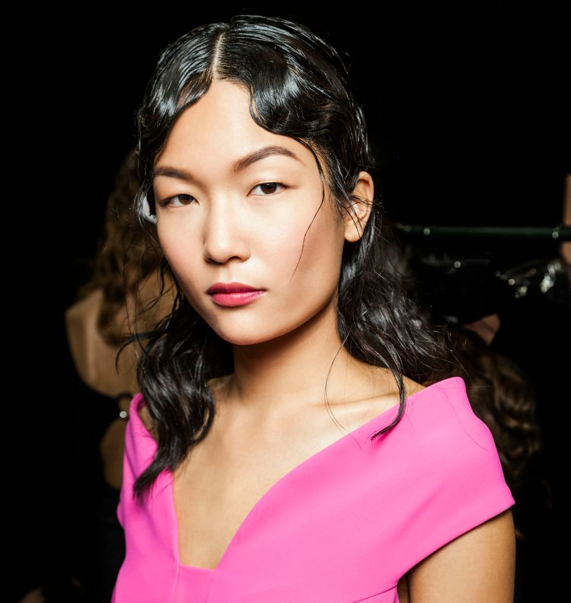 Complete #hair and #makeup look for Chiara Boni #NYFW  #SS16 Show with #Aveda. #livingaveda #beauty