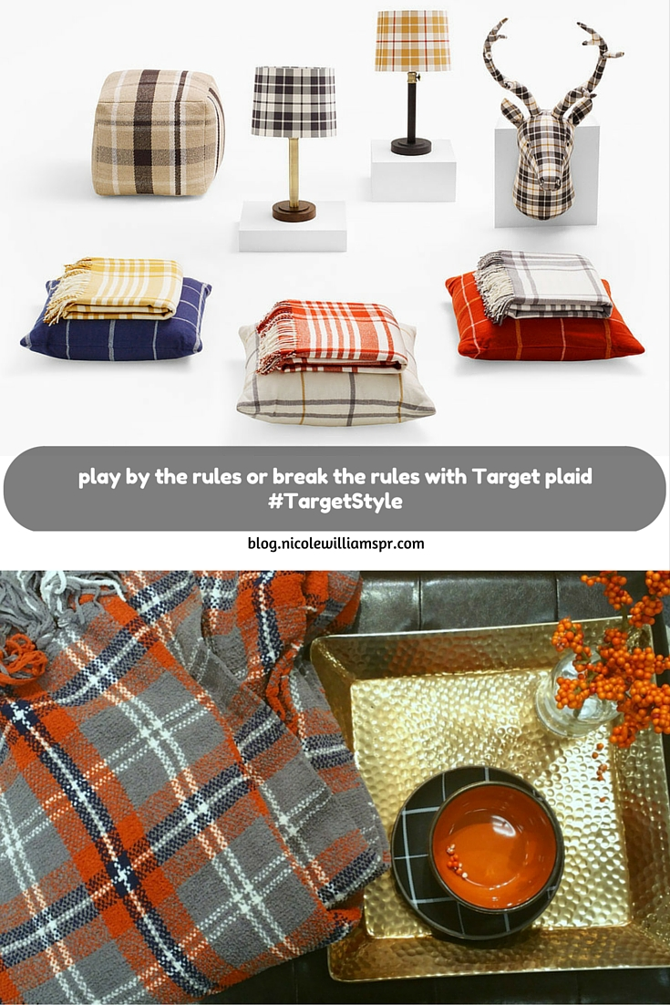 Target is mad for plaid with a collection of plaid items by Adam Lippes, fit for every room in your home.   #ad #TargetStyle #love2plaid @targetStyle #AdamLippesforTarget #nllblog #homedecor