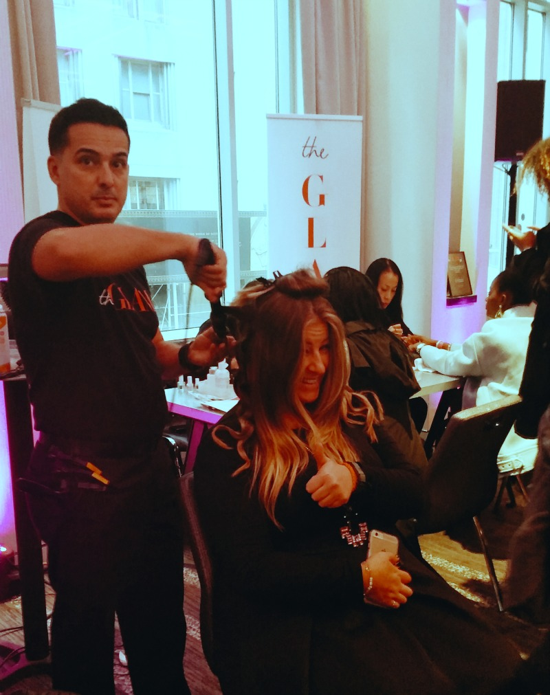 The GLAM app team at work at the Simply Stylist NYC. #simplystylistny