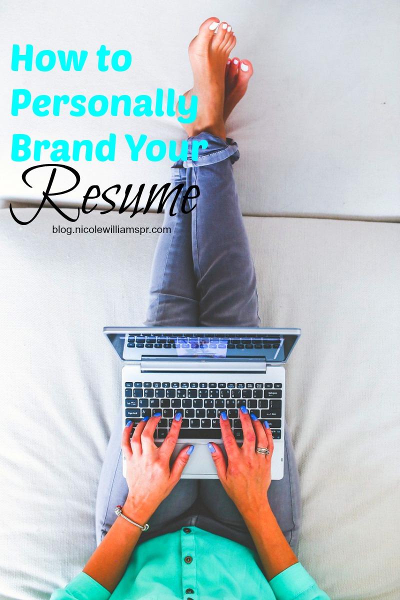 4 ways to personally brand your resume. #careertips #personalbranding