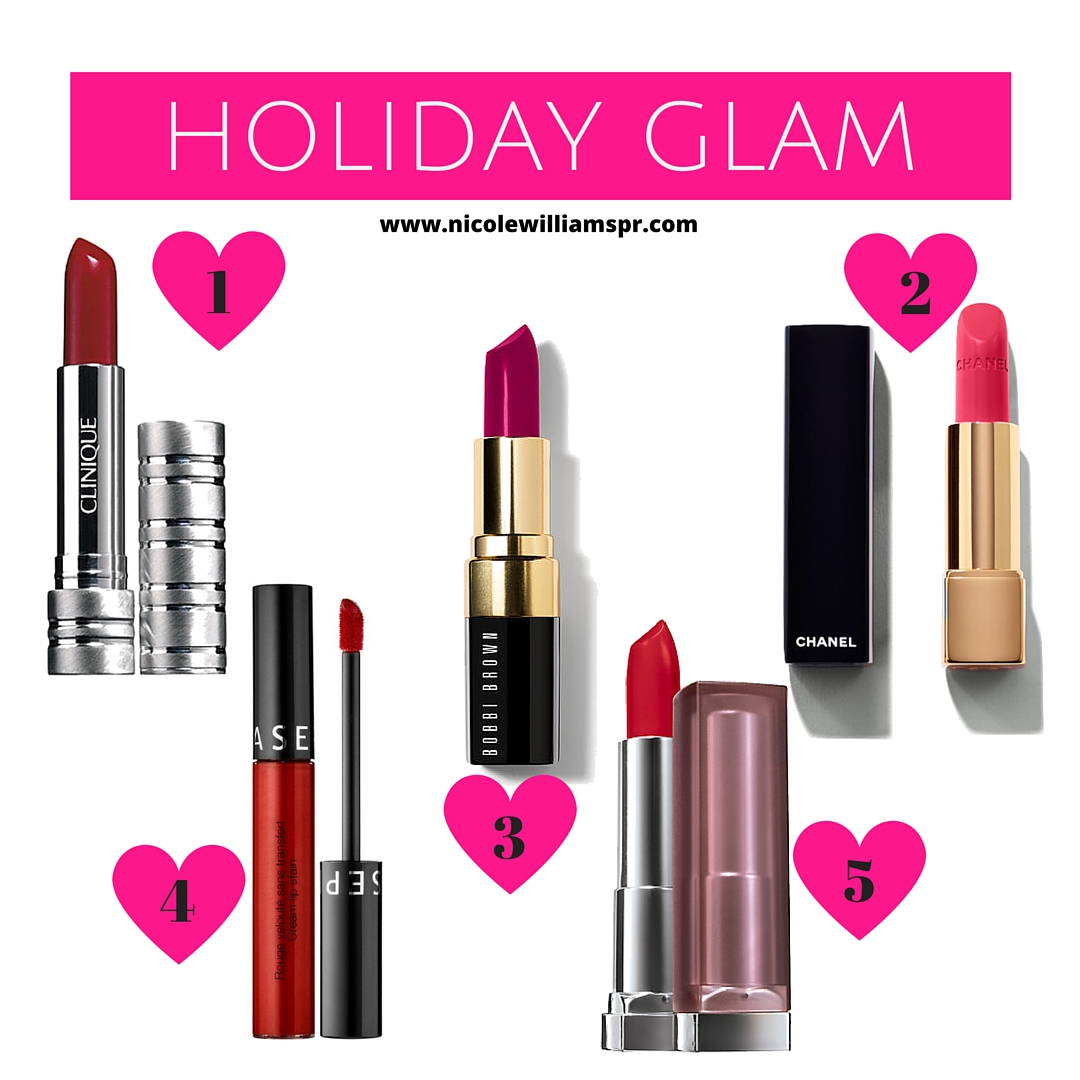 Glam Holiday! Sharing lippies that will have them announcing you at the holiday parties. ##holidaybeauty #lipcolors