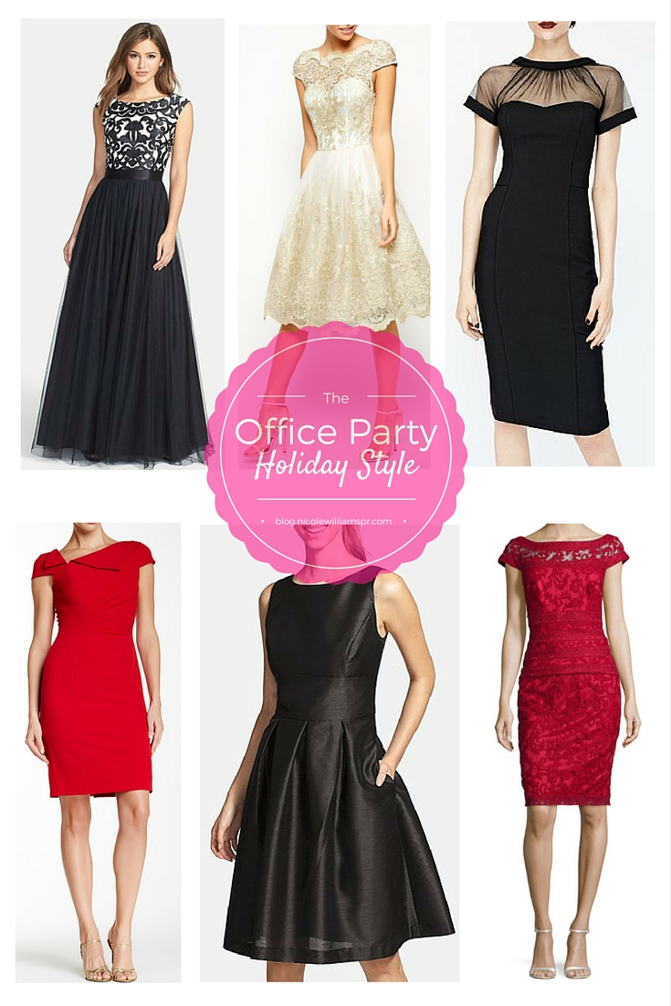 Holiday style: Appropriate yet Instagram-worthy dresses for the office holiday party. #careerwoman #officestyle #officechic