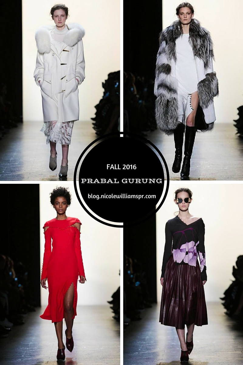 Prabal's pieces floated down the runway in powdered hue to bold saturated colors serving up nothing but subtle sex appeal. #NYFW