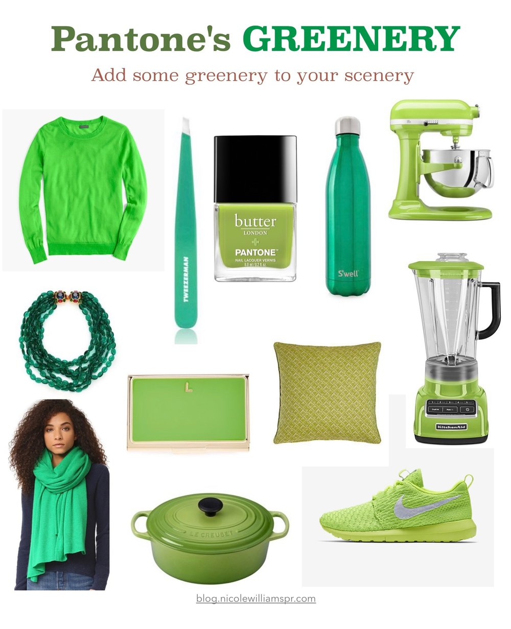 Greenery Pantone's Color of the year 2017