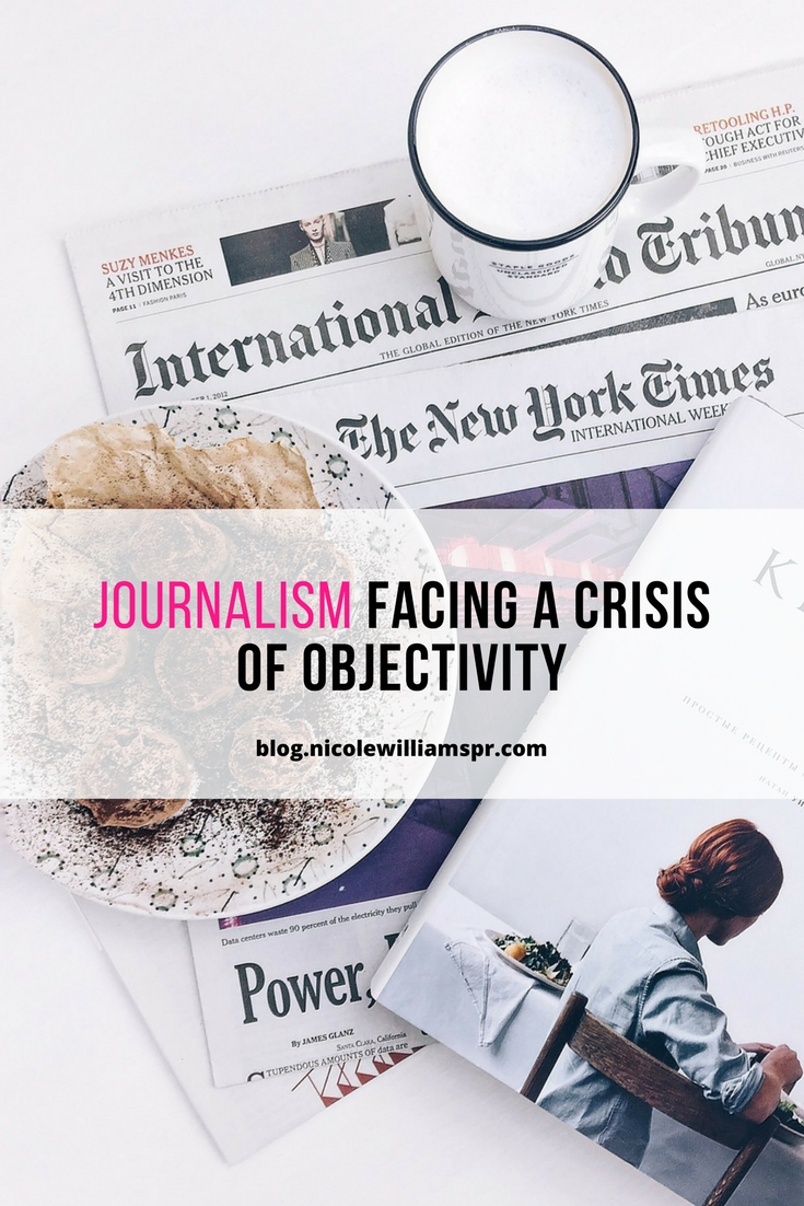 Journalism facing a crisis of objectivity