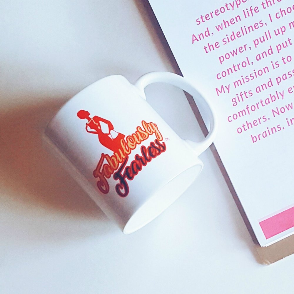 A cup of motivation. #fabulouslyfearless
